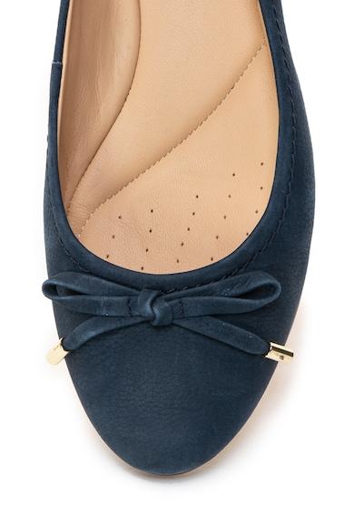 Clarks Grace Lily nubuk bőr balerina cipő dekoratív masnival női