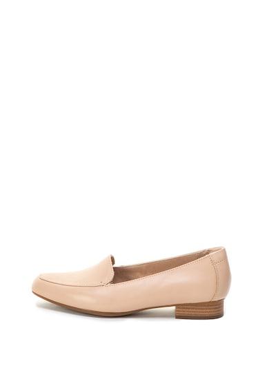 Clarks Juliet Lora bőrcipő vastag sarokkal női