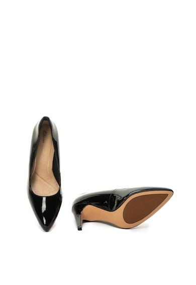 Clarks Pantofi de piele lacuita cu varf ascutit Laina Rae Femei