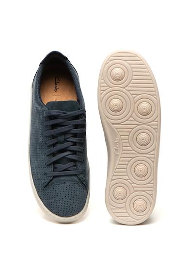 Clarks Pantofi sport de piele nabuc Nathan Barbati