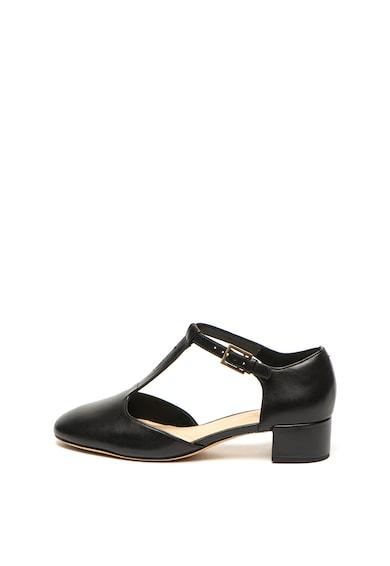 Clarks Кожени обувки Orabella Holly с масивен ток Жени