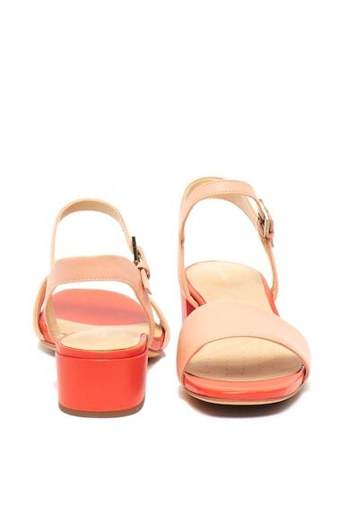 Clarks Sandale de piele cu toc masiv Orabella Femei