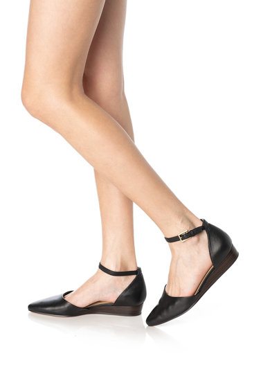 Clarks Pantofi d'Orsay de piele cu talpa wedge Sense Femei
