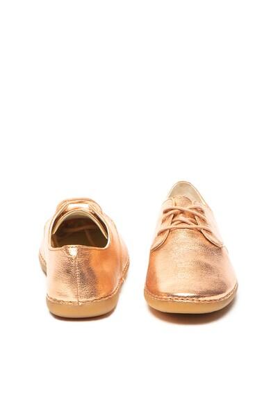 Clarks Pantofi de piele cu aspect stralucitor Skylark Fete