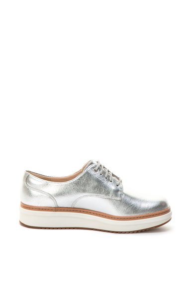 Clarks Pantofi flatform de piele cu aspect lucios Teadale Rhea Femei