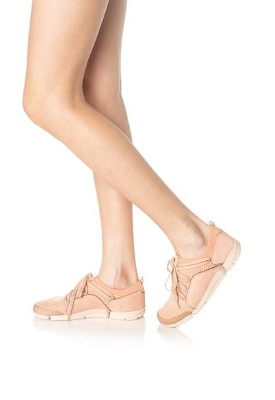Clarks Pantofi sport slip on cu garnituri de piele intoarsa Tri Amelia Femei