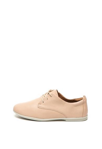 Clarks Pantofi casual de piele, cu siret Un Coral Femei