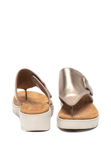 Clarks Кожени чехли Karely със скосена платформа Жени