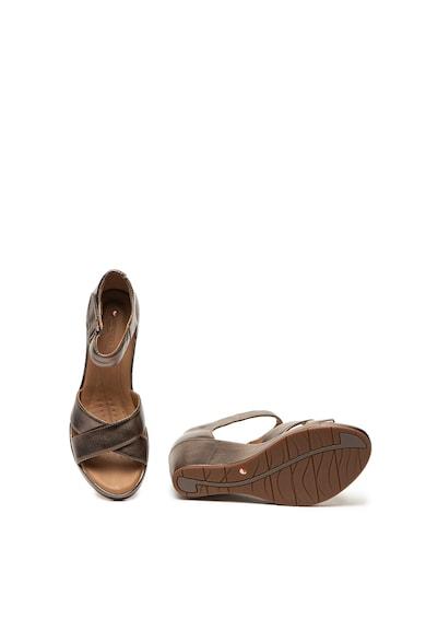Clarks Sandale wedge de piele Plaza Femei