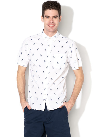Banana Republic Риза с къси ръкави и джоб на гърдите Мъже