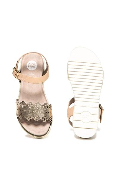 Gioseppo Sandale de piele cu perforatii decorative Lamezia Fete