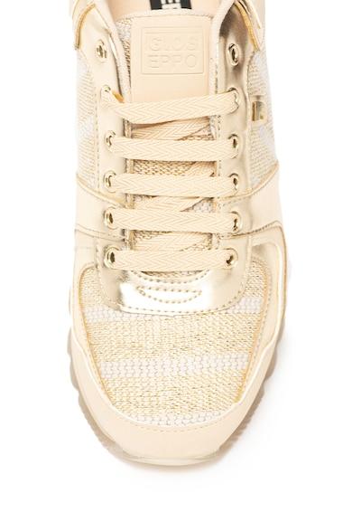 Gioseppo Pantofi sport de piele ecologica cu insertii cu fir stralucitor Havre Femei