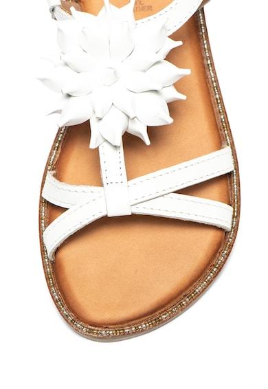 Gioseppo Sandale de piele cu aplicatie in forma de floare Roubaix Fete