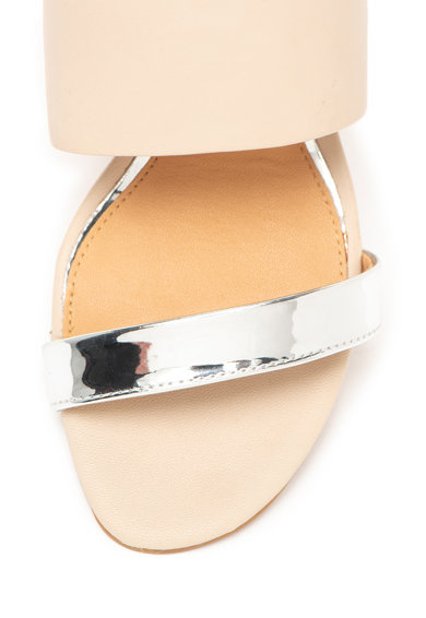 Gioseppo Sandale slingback de piele cu garnituri cu aspect oglinda Idanha Femei