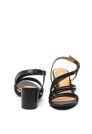 Gioseppo Sandale de piele si piele intoarsa cu toc masiv Ardenne Femei