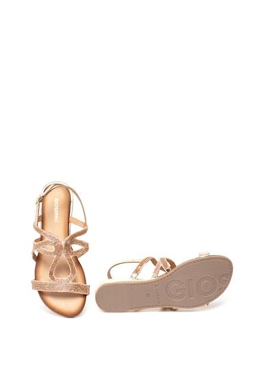 Gioseppo Sandale metalizate decorate cu margele Parga Femei