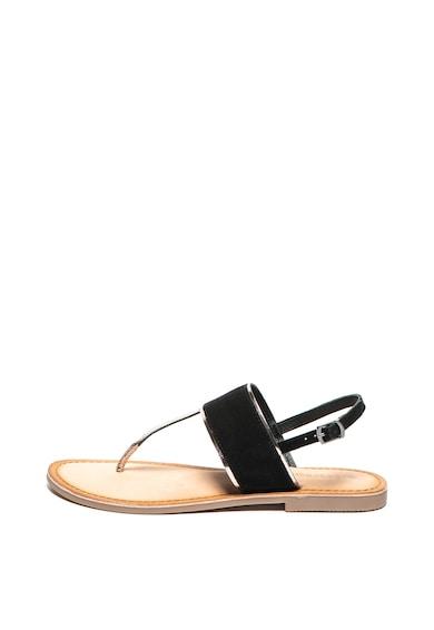 Gioseppo Sandale de piele si piele intoarsa, cu bareta separatoare si detalii metalizate Zitsa Femei