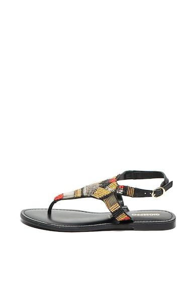 Gioseppo Sandale slingback de piele, cu bareta separatoare si decoratiuni cu margele Obidos Femei