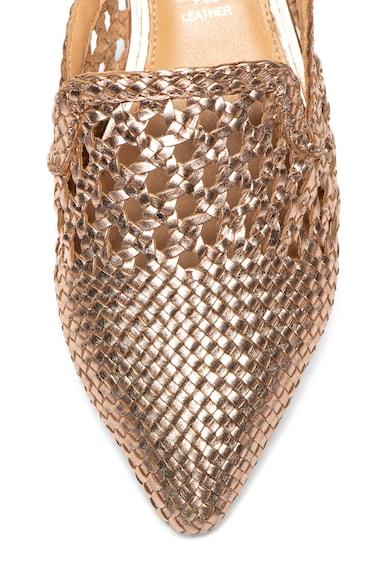 Gioseppo Saboti de piele cu varf ascutit si aspect tesut Tricalle Femei