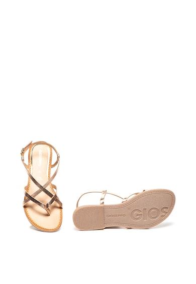 Gioseppo Sandale de piele cu bareta separatoare la nivelul degetelor si model incrucisat Dinia Femei