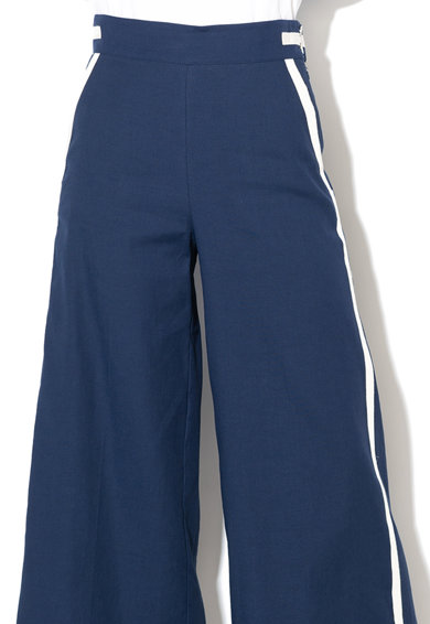 Marella Pantaloni din amestec de in, cu croiala ampla si dungi laterale contrastante Grecia Femei