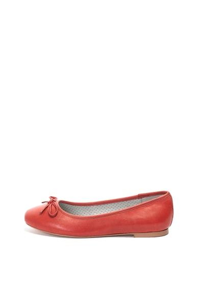 Jana Shoes Кожени пантофки с панделка Жени