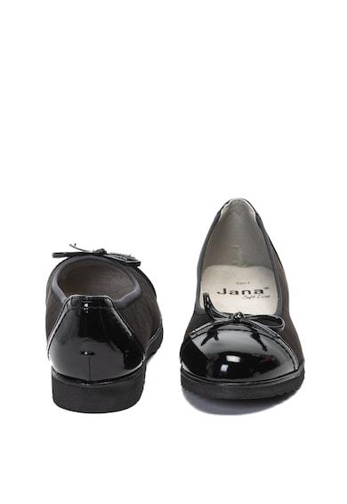 Jana Shoes Balerini de piele intoarsa ecologica Femei