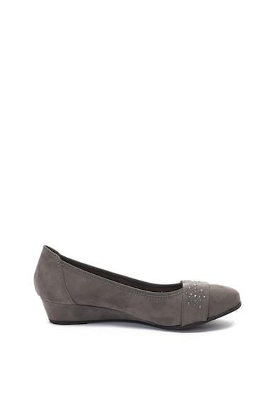 Jana Shoes Пантофки със скосена платформа, от еко велур Жени