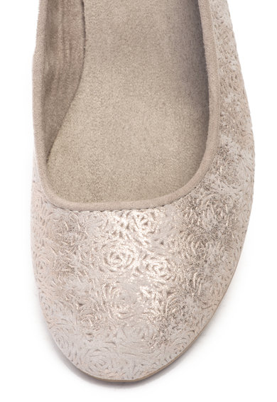 Jana Shoes Pantofi din piele intoarsa si material textil, cu perforatii Femei