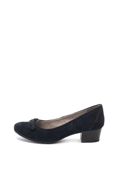 Jana Shoes Pantofi din piele intoarsa, cu toc masiv Femei