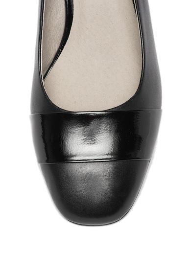 Jana Shoes Кожени обувки с масивен ток Жени