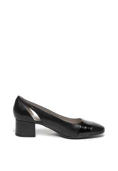 Jana Shoes Pantofi de piele cu toc masiv Femei