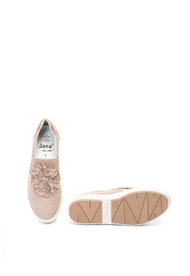 Jana Shoes Велурени обувки с флорални декорации Жени