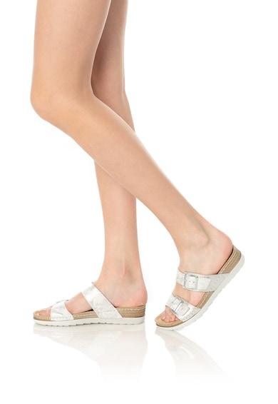 Jana Shoes Чехли от еко кожа с каишки с токи Жени