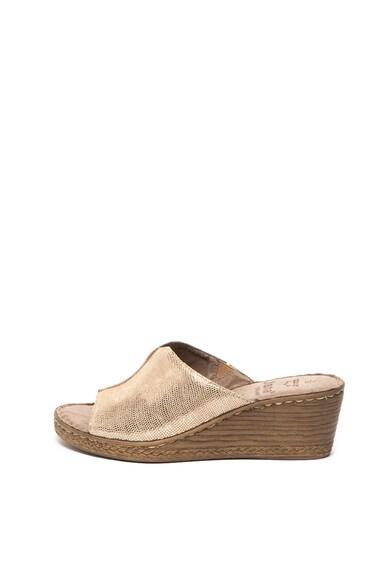 Jana Shoes Сандали тип чехли от велур с ефелт металик Жени