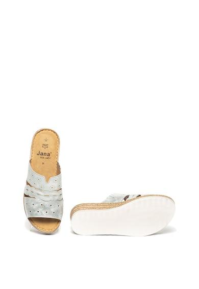 Jana Shoes Кожени чехли със скосена платформа Жени