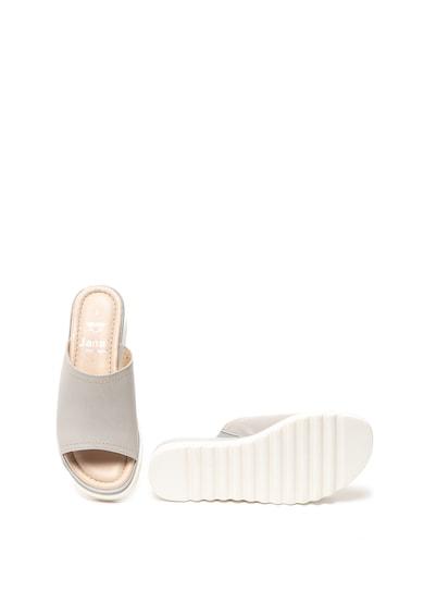 Jana Shoes Омекотени кожени сандали с брокат Жени