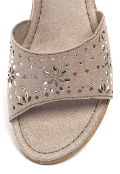 Jana Shoes Сандали от еко велур с перфорации Жени