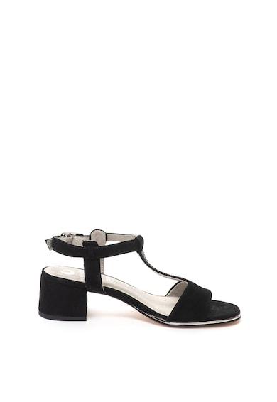 Jana Shoes Sandale de piele intoarsa, cu bareta in forma de T si strasuri Femei