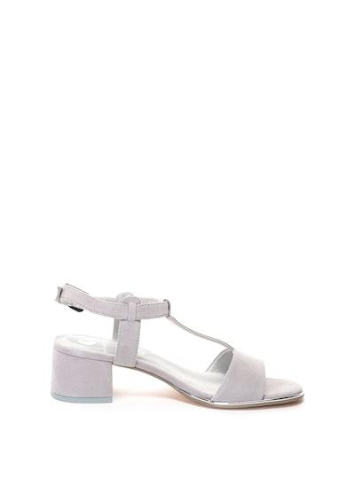 Jana Shoes Велурени сандали с Т-образна каишка и декоративни камъни Жени
