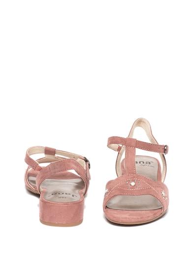 Jana Shoes Сандали от еко велур с декоративни камъни Жени