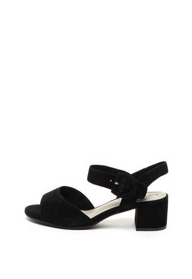 Jana Shoes Велурени сандали с масивен ток Жени