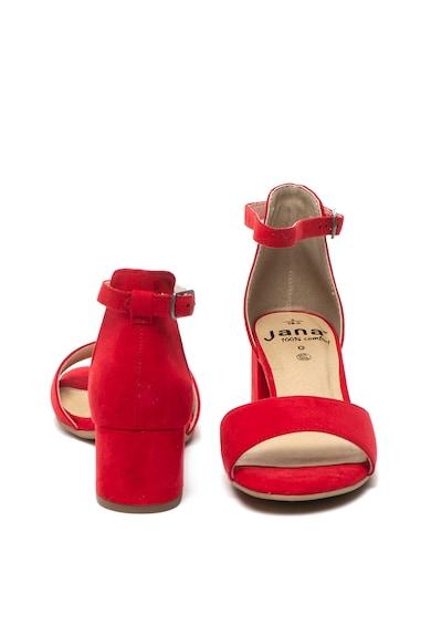 Jana Shoes Sandale cu bareta pe glezna si toc masiv Femei