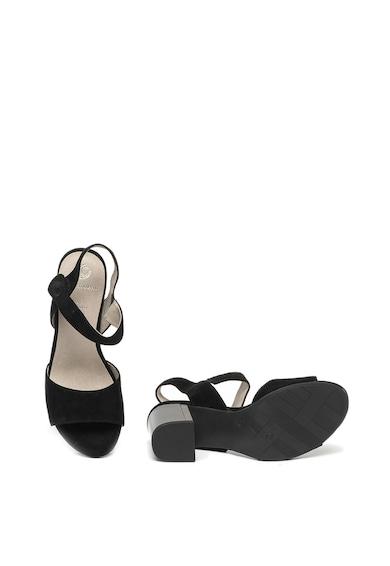 Jana Shoes Велурени сандали с висок ток Жени