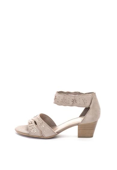 Jana Shoes Сандали от еко велур с каишка на глезена Жени