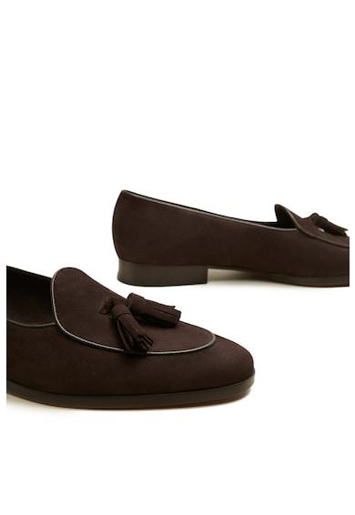 Mango Pantofi loafer cu detalii cu canaf Chocolate Barbati