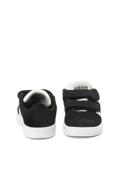 Adidas PERFORMANCE Pantofi sport de piele intoarsa, cu garnituri de piele ecologica VL Court 2.0 Fete