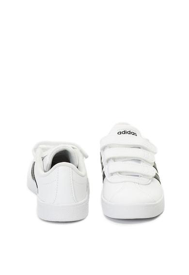 adidas Performance Pantofi sport de piele ecologica, cu velcro Court Fete