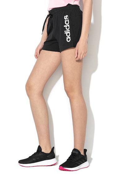 Adidas PERFORMANCE Pantaloni scurti cu imprimeu logo Femei