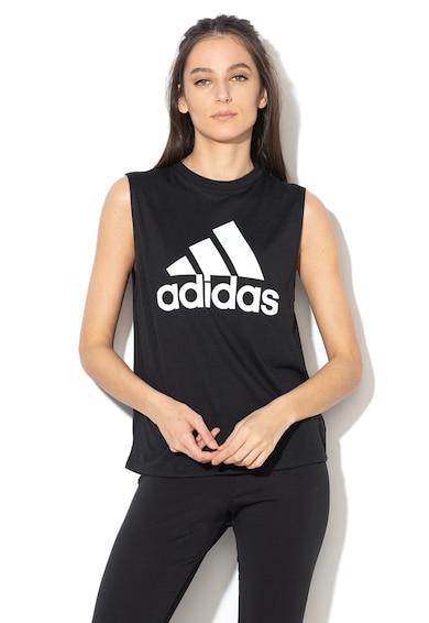 Adidas PERFORMANCE Top cu imprimeu logo, pentru fitness Femei